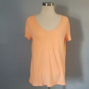 Heather orange v neck t